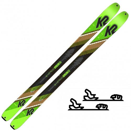 K2 Skis Wayback 88 Grønn/Svart - Slalomskipakke med binding