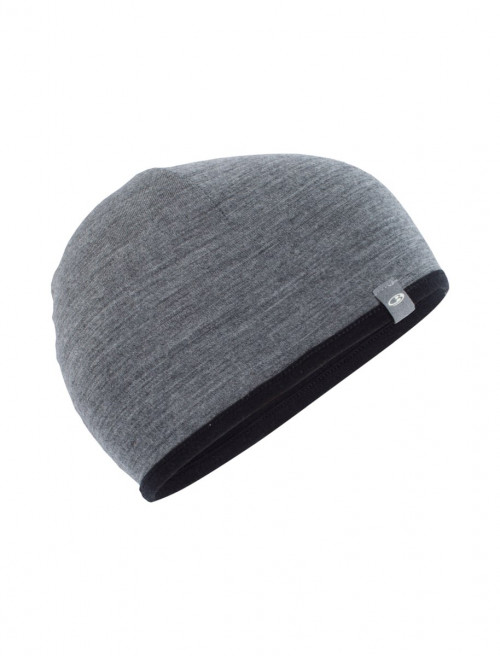 Icebreaker Adult Pocket Hat Black/Gritstone Hthr
