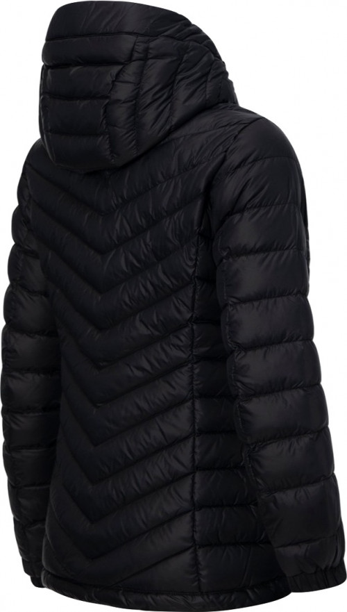 Peak Performance W Frost Down Hooded Jacket Black