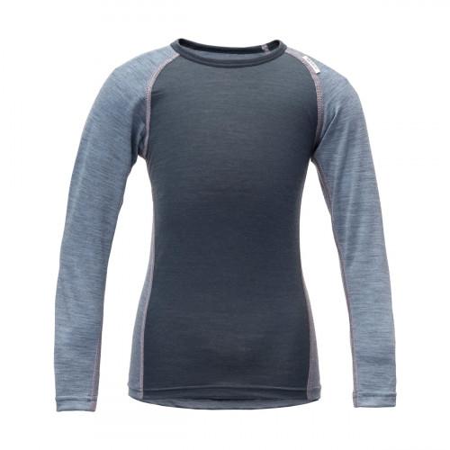 Devold Breeze Kid Shirt Glacier Melange