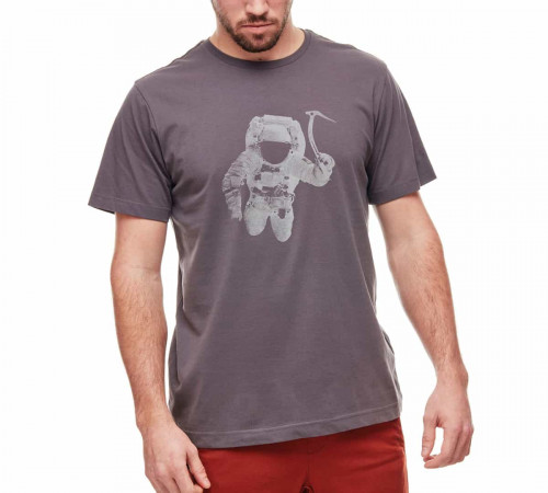 Black Diamond M SS Spaceshot Tee Charcoal Heather