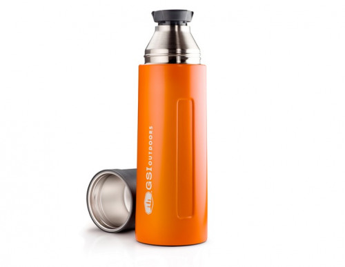 Gsi Stainless 1 L Vacuum Bottle Orange