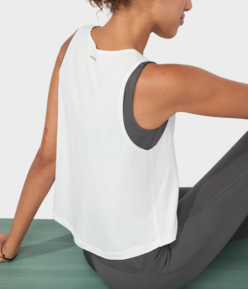 Manduka High Low Tank White