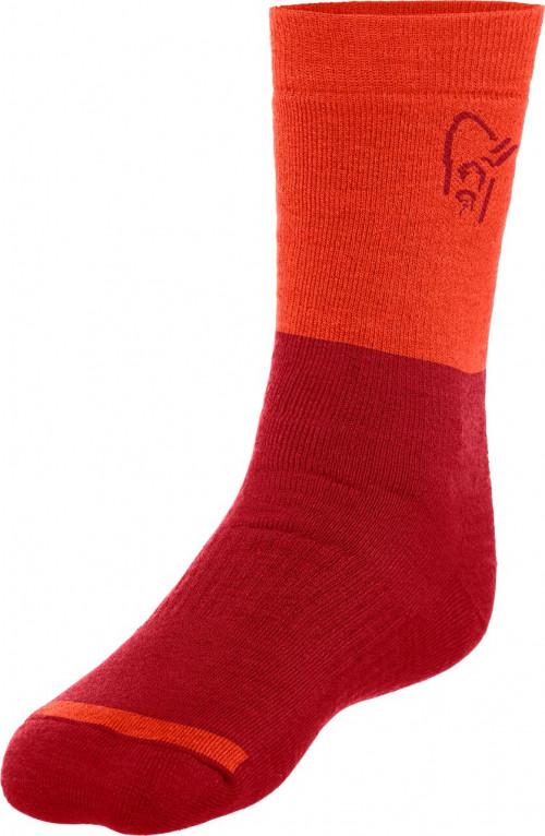 Norrøna Trollveggen Heavy Weight Merino Socks Jester Red