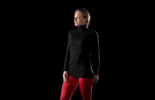 Norrøna Wool Zip Neck (W) Crisp Ruby