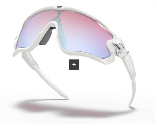 Oakley Jawbreaker Polished White w/ Prizm Snow