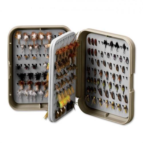 Orvis Posigrip Flip Page Fly Box S Khaki