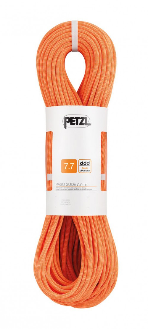 Petzl Paso Guide 7,7mm x 50m Oransje