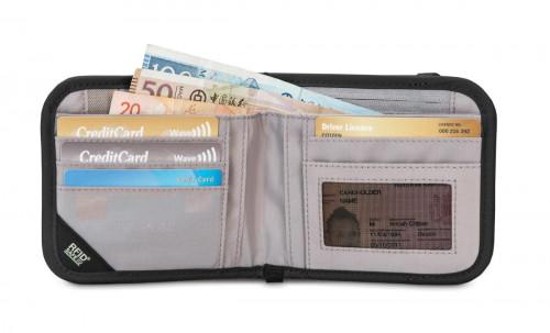 Pacsafe Rfidsafe V100 Bifold Wallet Black