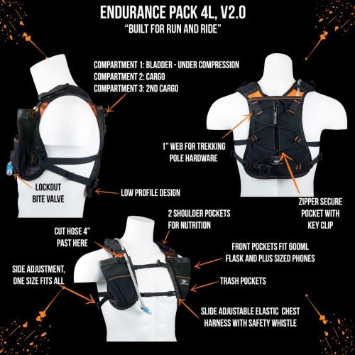Orange Mud Endurance Pack, 70z, Orange