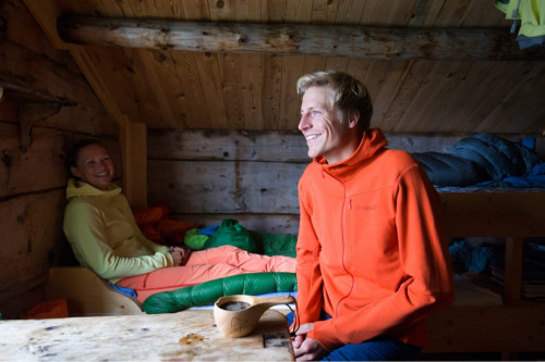 Norrøna Falketind Warmwool2 Stretch Zip Hood M's Rooibos Tea
