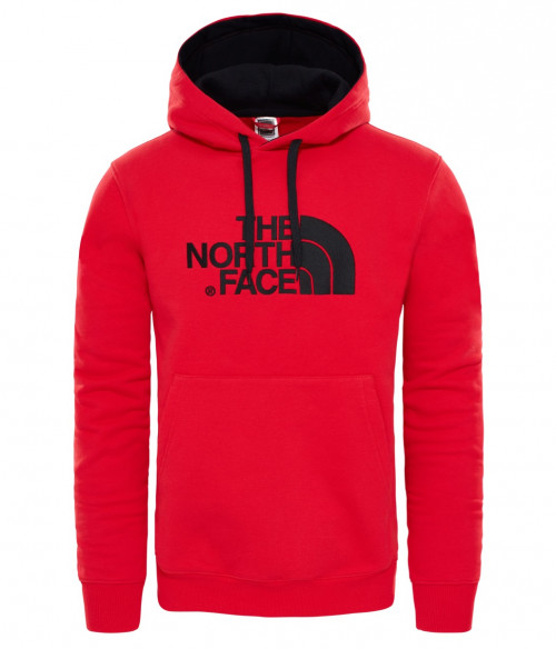 The North Face Men's Drew Peak Pullover Hoodie Red/Red