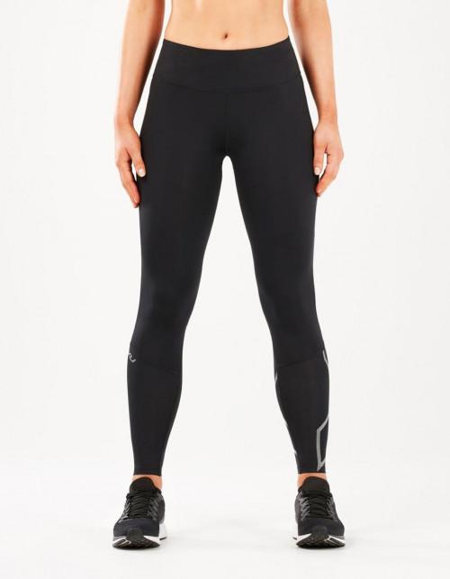 2XU Run Midrise Comp Tights Women Black/Silver Reflective