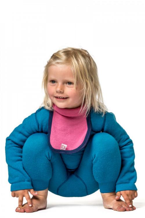 Woolpower Kids Mock Turtleneck 200 Sea Star Rose