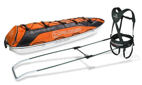 Fjellpulken Xplorer Ekspedisjonspulk Komplett Orange 168cm