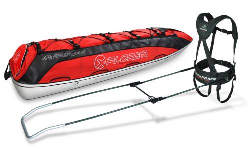Fjellpulken Xplorer Ekspedisjonspulk Komplett Rød 188cm