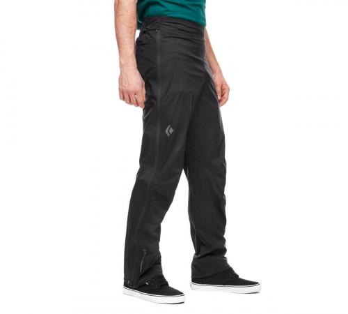 Black Diamond M Stormline Str FL Zp Rn Pants Black