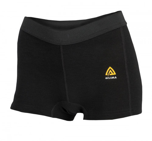 Aclima WarmWool Boxer Shorts Woman Black