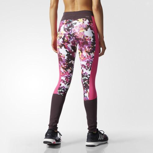 Adidas Techfit Floral Print Long Tights Multicolor/Print/Matte Silver