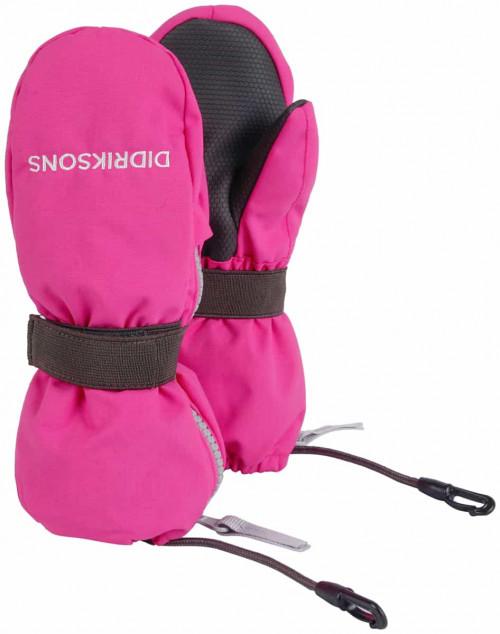 Didriksons Biggles Kid's Zip Mittens 3 Plastic Pink