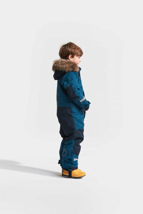 Didriksons Björnen Kid's Coverall 3 Hurricance Blue
