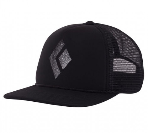 Black Diamond Flat Bill Trucker Hat Black