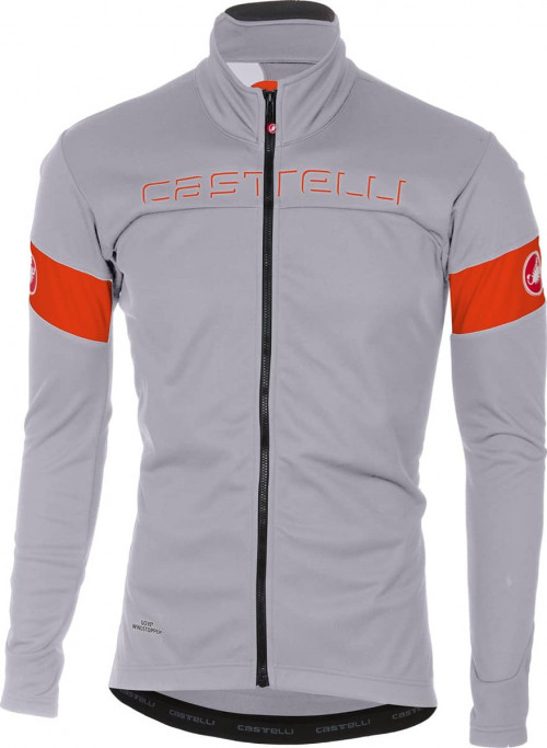 Castelli Transition Jacket Luna Gray/Orange