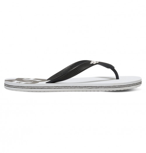 DC Spray Flip Flops Men's White/Black Basic