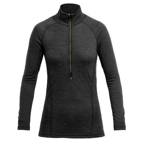 Devold Running Woman Zip Neck Anthracite