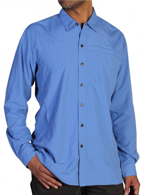 ExOfficio Men's BugsAway Breez'r Long Sleeve Shirt Cayman