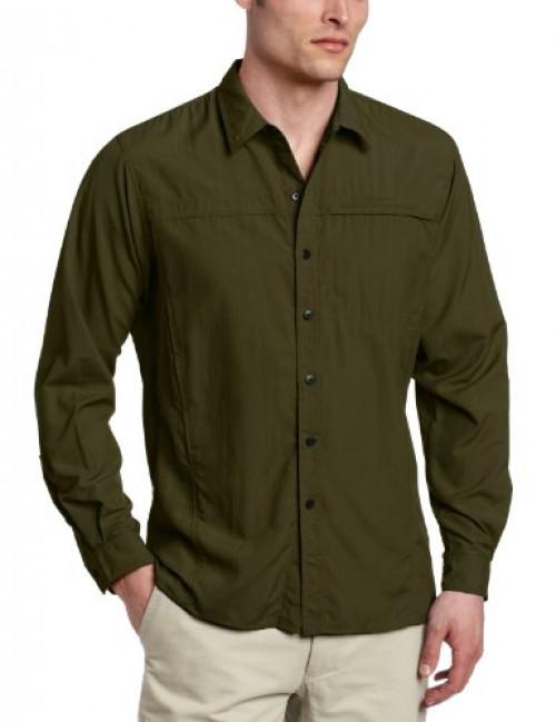 ExOfficio Men's BugsAway Breez'r Long Sleeve Shirt Algae