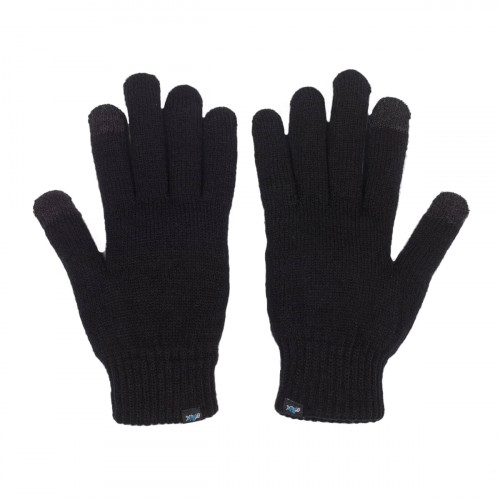 Fåk Knitted Gloves Black