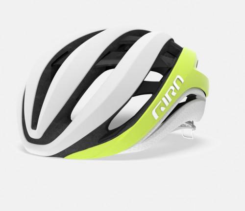 Giro Sykkelhjelm Aether Mips Matte Citron/White