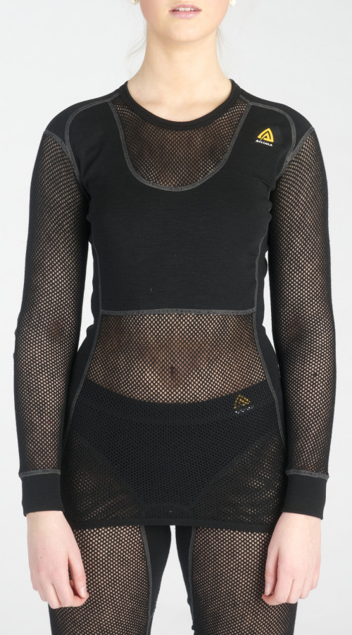 Aclima WoolNet Crew Neck Women's Black