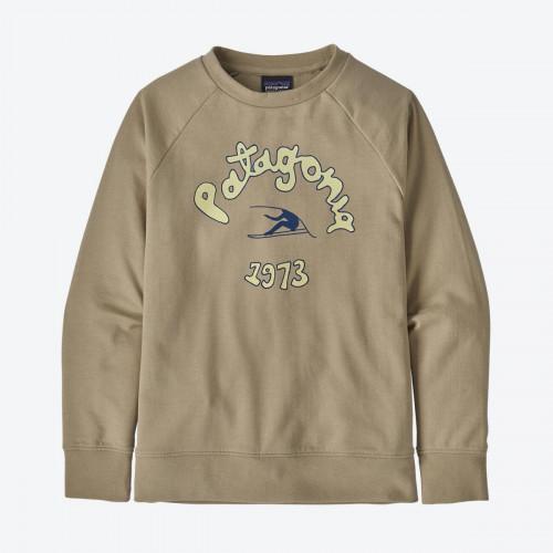 Patagonia K's Lw Crew Sweatshirt Vision Mission: El Cap Khaki