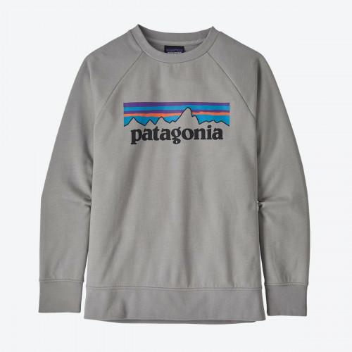 Patagonia K's Lw Crew Sweatshirt P-6 Logo: Drifter Grey