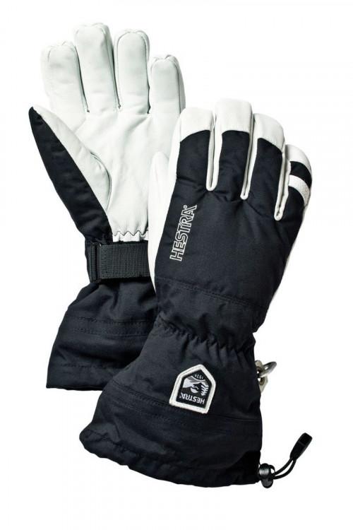 Hestra Army Leather Heli Ski-Svart
