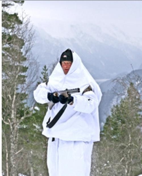 Jerven Jervenduken Hunter Vinterkamuflasje 102x220cm