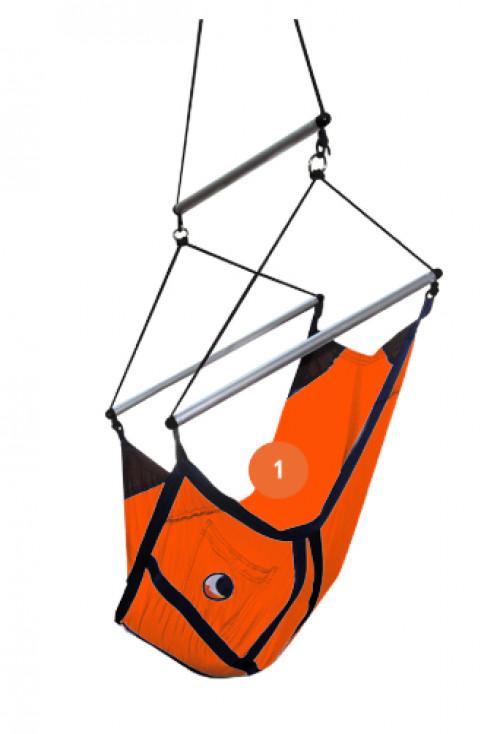 Ticket To The Moon Mini Hammock Moonchair Orange Max load 60kg