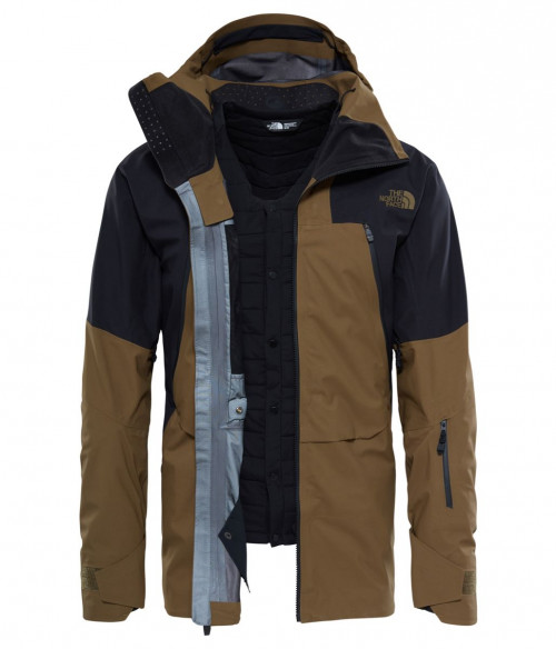 The North Face Men's Purist Tri Jacket Military Olive/Tnf Black
