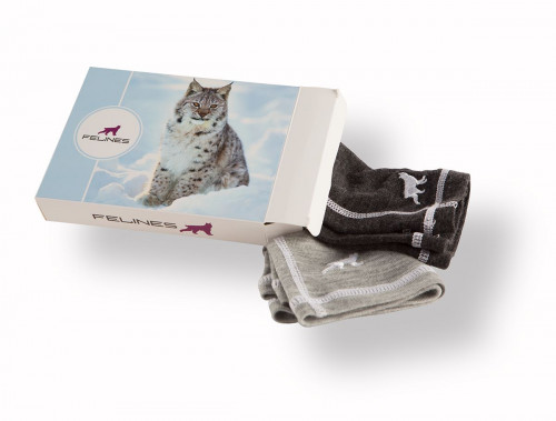 Felines Headover 100% Merino 2pk Dame Grey/Charcoal