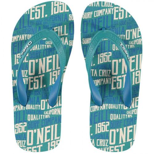O'Neill Profile Pattern Flip Flop Green Aop w/blue