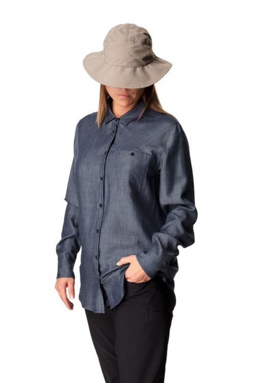 Houdini W's Out And About Shirt Blue Illusion