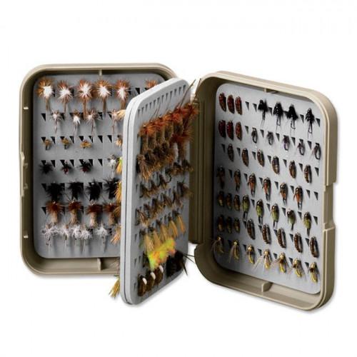 Orvis Posigrip Flip Page Fly Box M Khaki
