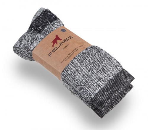 Felines Coolmax Merino Sock Grey Melange