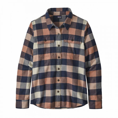 Patagonia W L/S Fjord Flannel Shirt Upriver: Century Pink