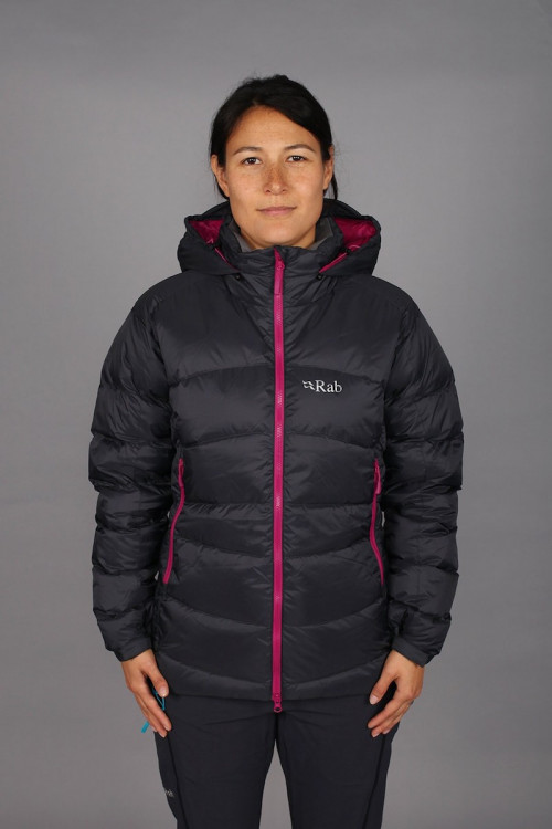 Rab Ascent Jacket Womens Beluga/Peony