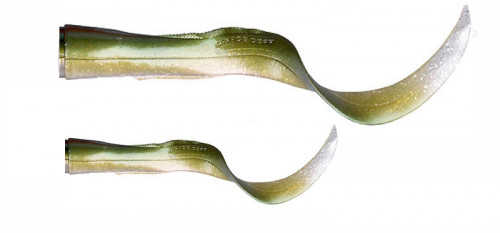 Savage Gear 3D Hard Eel Spare Tails 2-Pack Green Silver