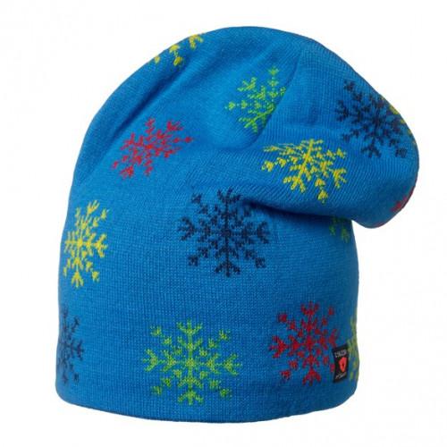 Isbjörn Of Sweden Snowflake Knitted Cap Acrylic/Wool Superhero Blue
