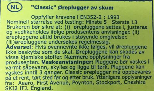 Strandco Ørepropper 2 Par Propper I Sort Eske